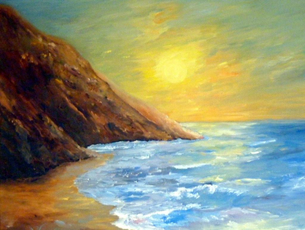-.- Tagesende am Meer