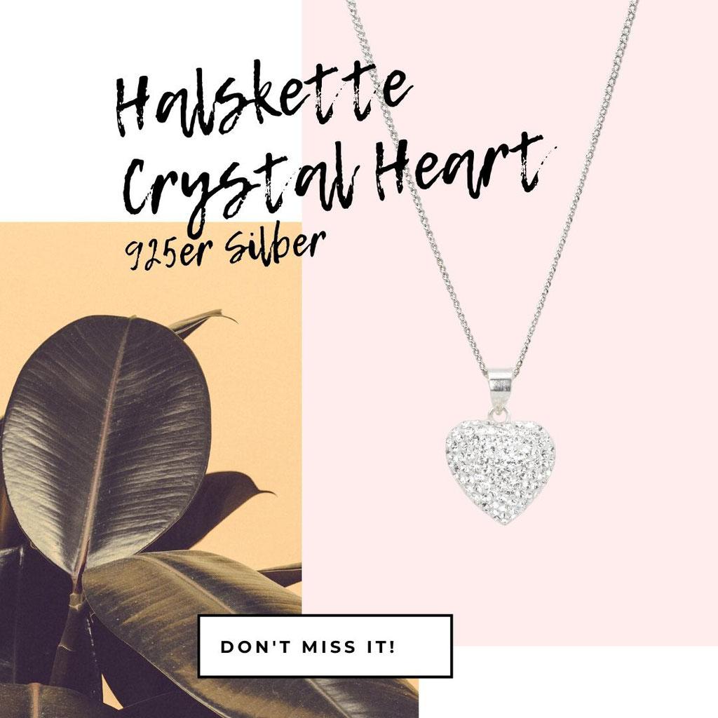 Halskette Crystal Heart