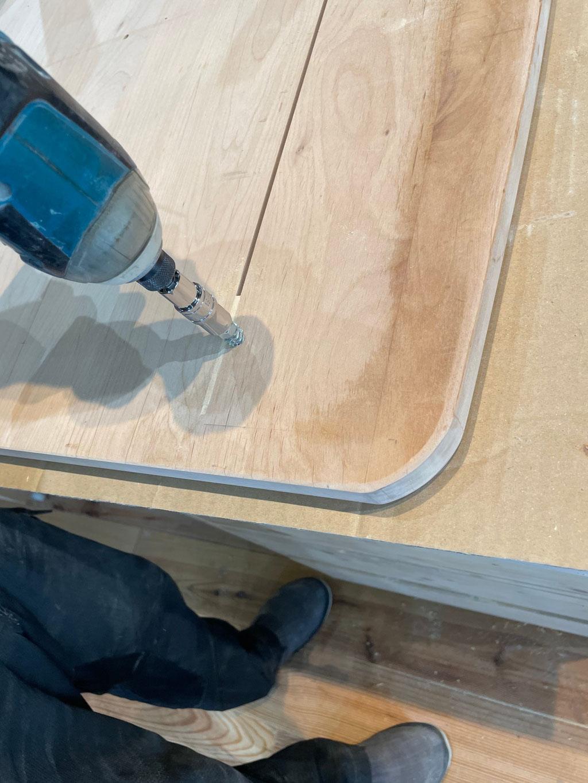 家具リフォーム・リビングテーブル天板作成