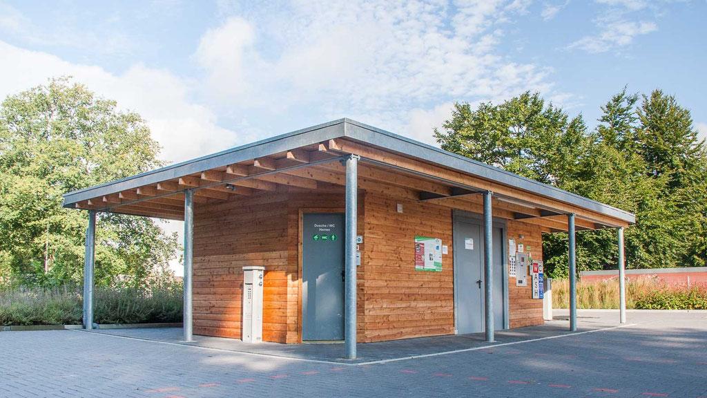Funktionshaus WC/Dusche  - Wohnmobilstellplatz Niederrhein in Neukirchen-Vluyn
