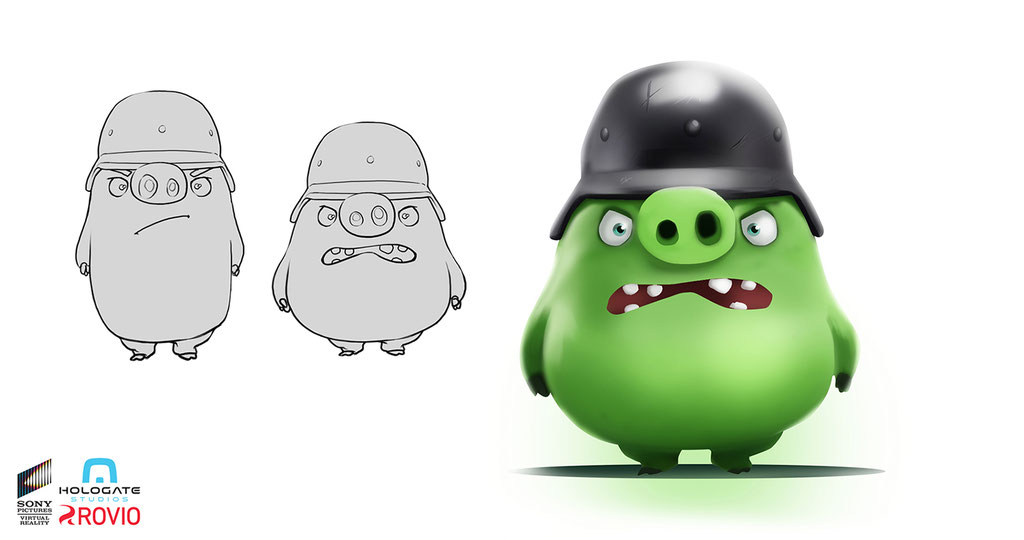 Hologate - Angry Birds VR - Pig Soldier - Peter Bartels