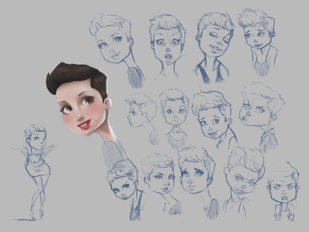 Tiki Gallina character - Peter Bartels - Illustration - Concept Art