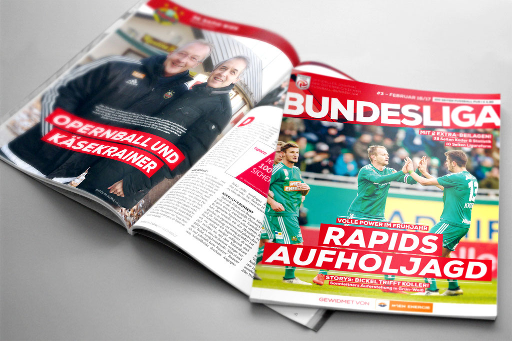 Bundesliga Journal – Ausgabe Februar 2017 / Clubcover Bsp.
