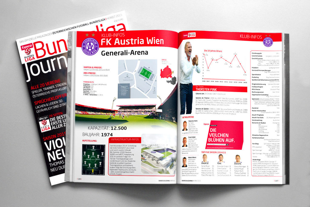 Bundesliga Journal – Herbstausgabe 2015 – Club Infos