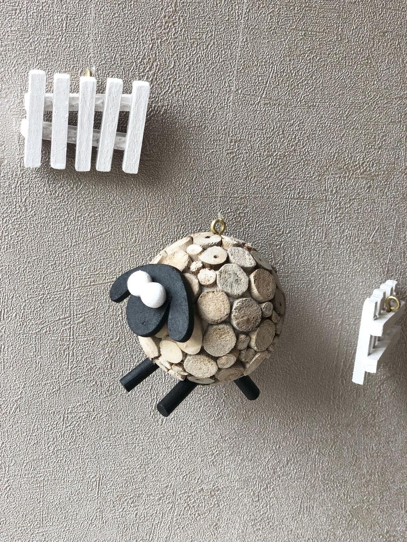 Mobile bois flotté Moutons
