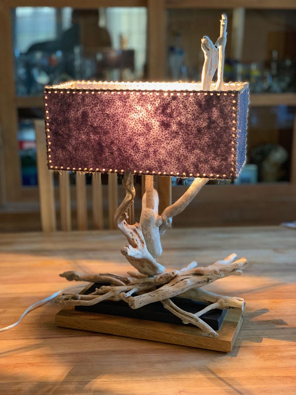 Lampe bois flotté Sublime