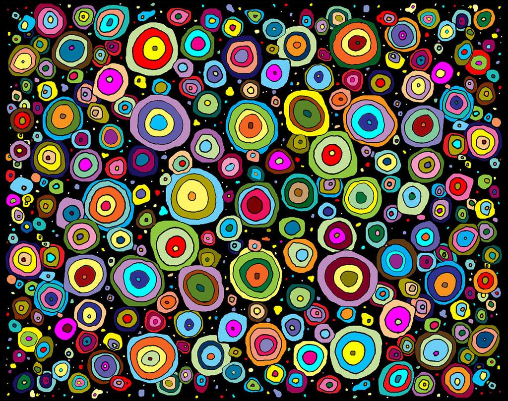 "Night Sky 2014 Giclee print   Image size 10.5 x 13.5"""