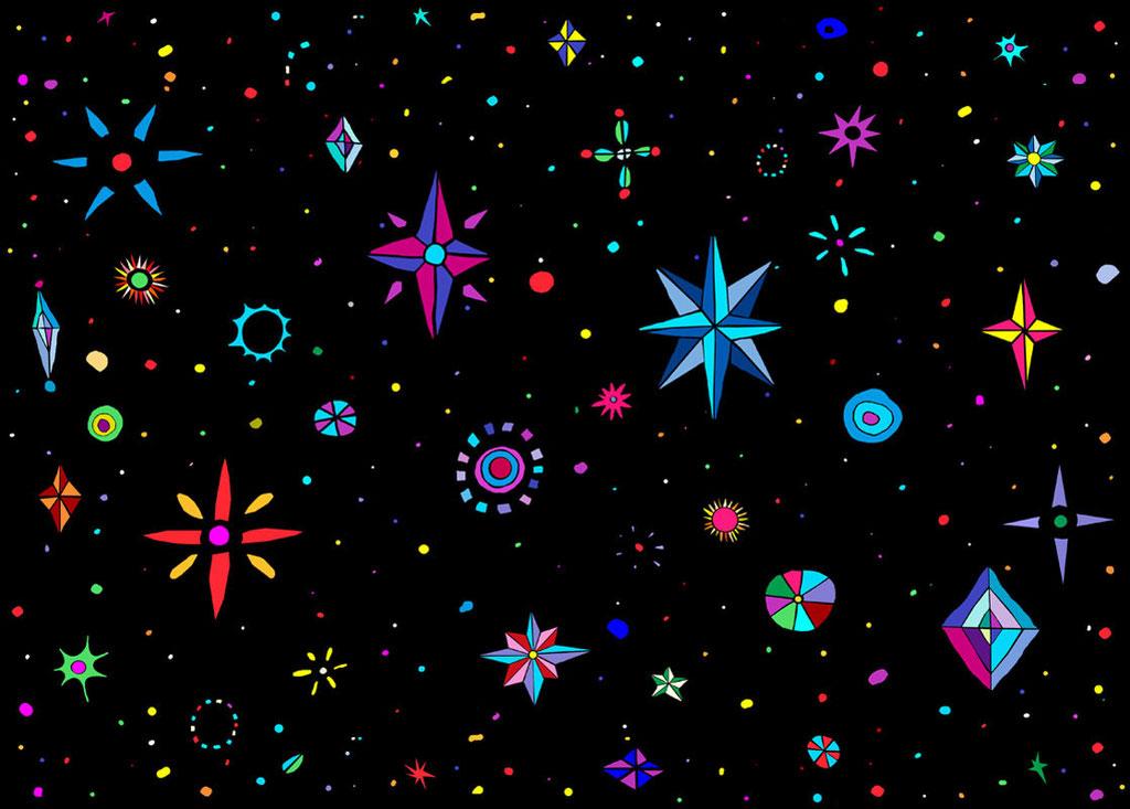 "Starry Night 2012    Giclee print  Image size 10.5 x 13.5"""