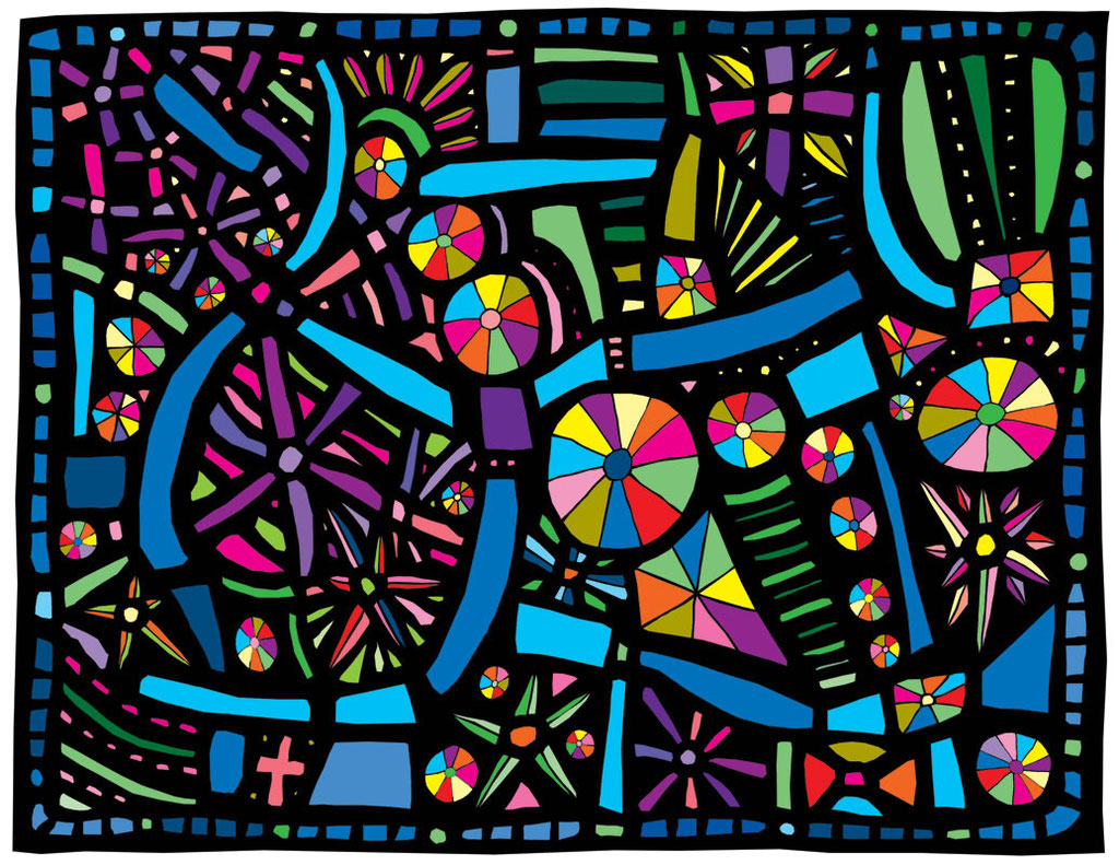 """Mola Quilt 2015 Giclee print  Image size 10.5 x 13.5"""""""