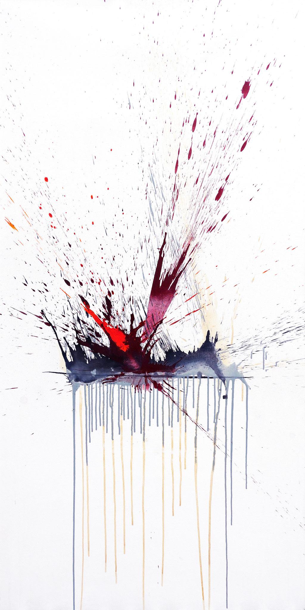 ESKALATION  Mischtechnik auf Leinwand  200x100 cm  2014