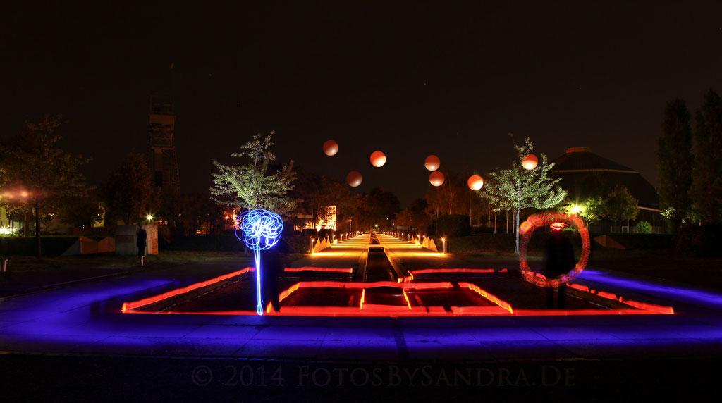 LED-Malereien im OLGA-Park 28.09.2014