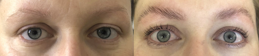 Augenbrauen & Wimpern Lifting inkl. Farbe