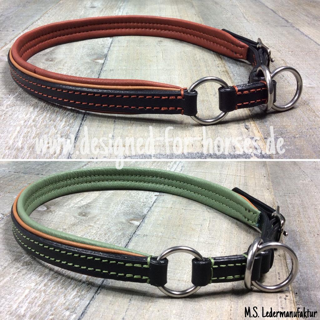 Zugstopp Halsband verstellbar aus Leder