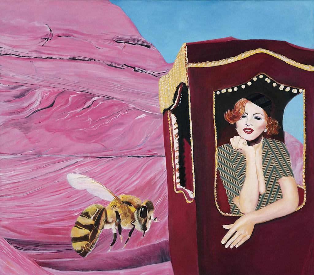 Signorina Barberini auf dem Weg nach Rom | 2018 | 70 x 80 cm | Öl/Textil auf Leinwand