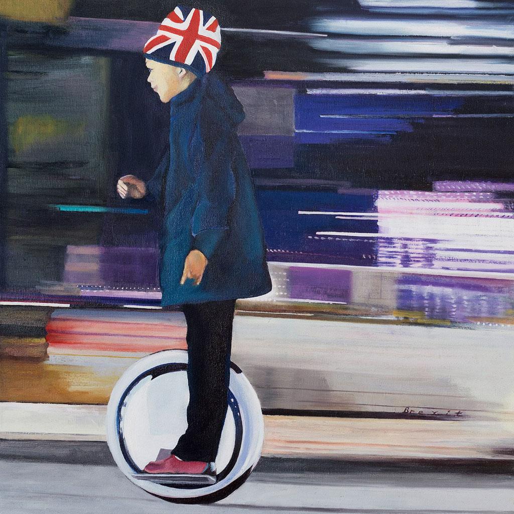 Brexit | 2018 | 60 x 60 cm | Öl auf Leinwand