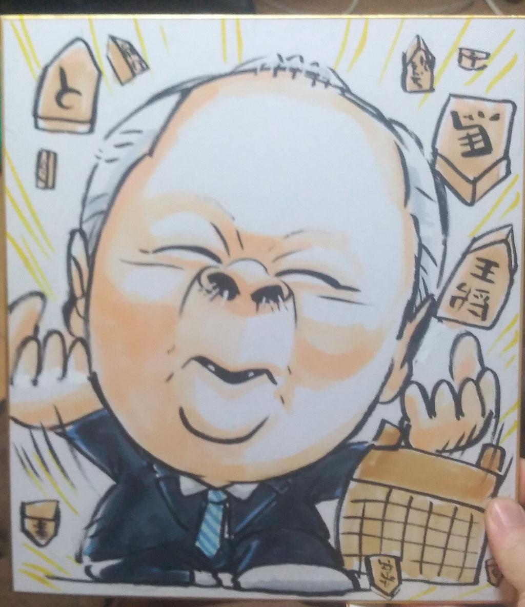似顔絵 洋一丸 笑顔屋 イベント 出張 大阪 関西 加藤一二三