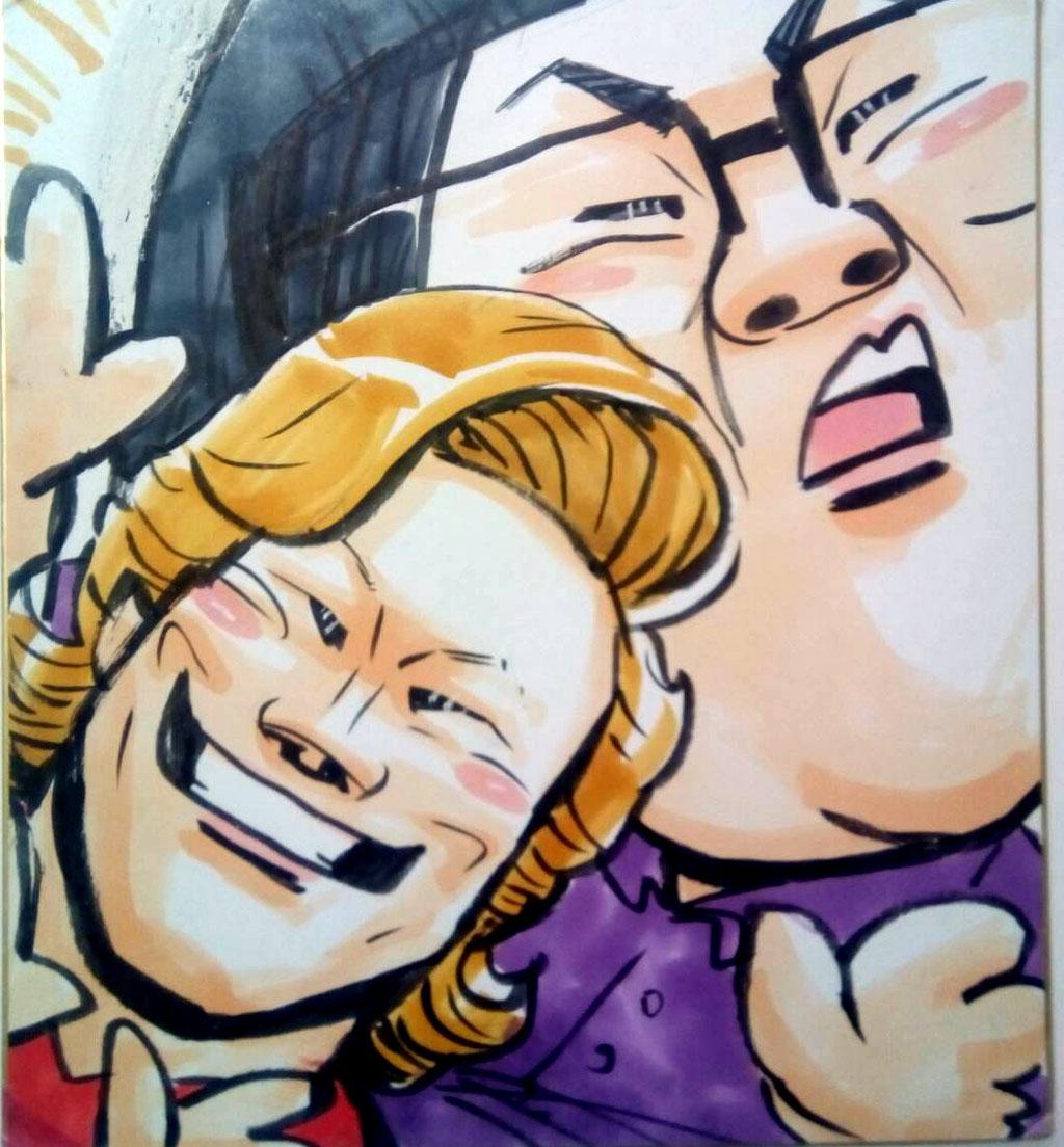 似顔絵 洋一丸 笑顔屋 イベント 出張 大阪 関西 メイプル超合金 がずレーザー あんどうなつ