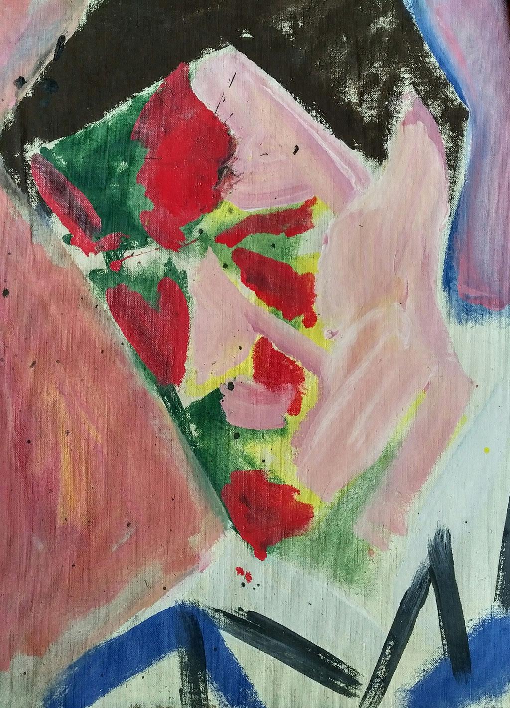 Antoine, huile sur toile, collection d'atelier