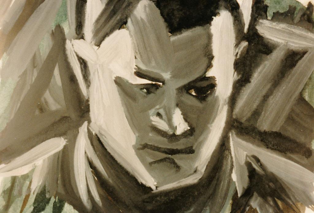 Meheuc, gouache sur papier, 21x29,7, 1979