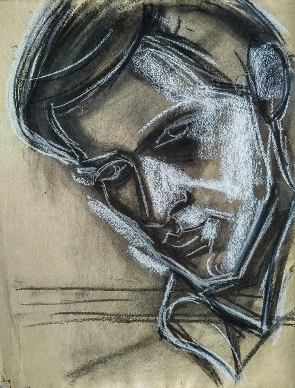 Antoine, fusain, collection d'atelier