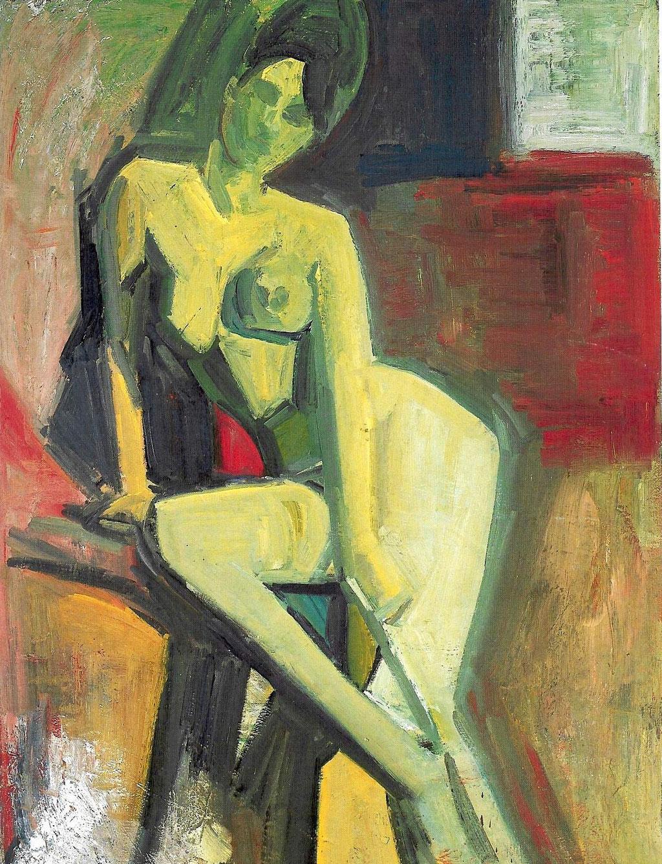 Gladys géometrique, 130x97, huile sur toile, 1981