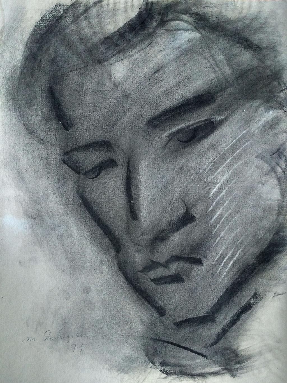 Antoine, fusain, 1979, collection d'atelier
