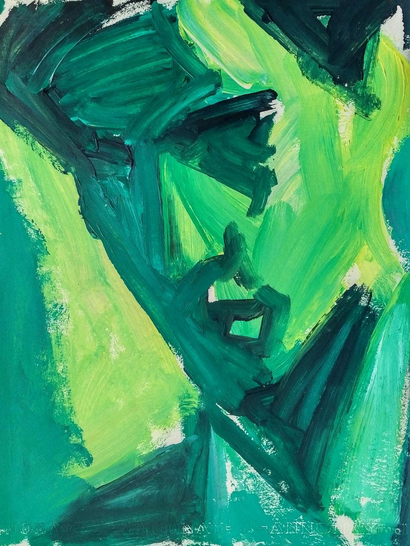 Antoine, acrylique, collection d'atelier