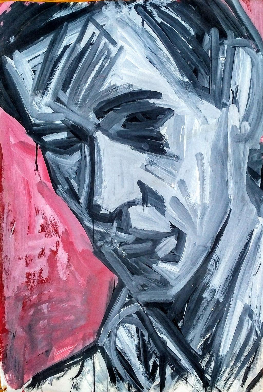 Antoine, acrylique, 64x81, collection d'atelier