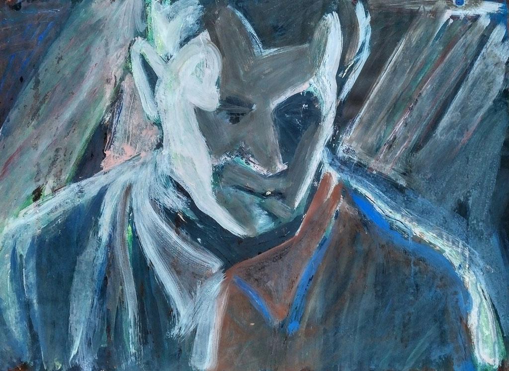 Meheuc, acrylique,  51x67 , 1979