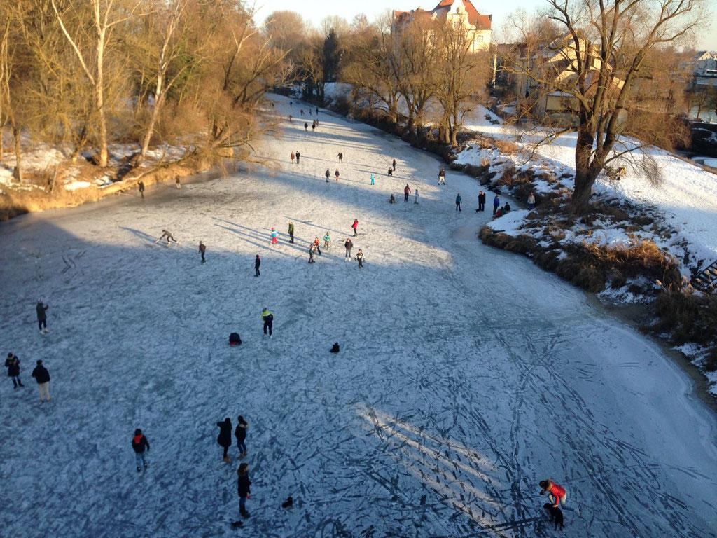 Klirrende Kälte in Regensburg ©Jonas Nonnenmacher