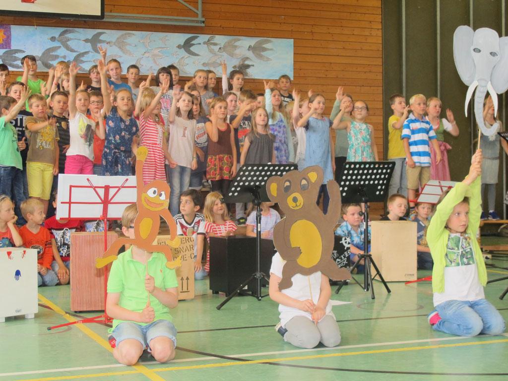 """Unser diesjähriges Musical, """"Carneval der Tiere"""", 01.07.2016"""