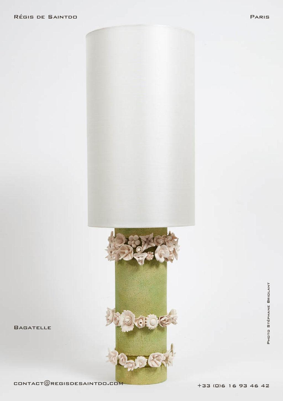 Lampe Bagatelle-Céramique teintée et biscuit