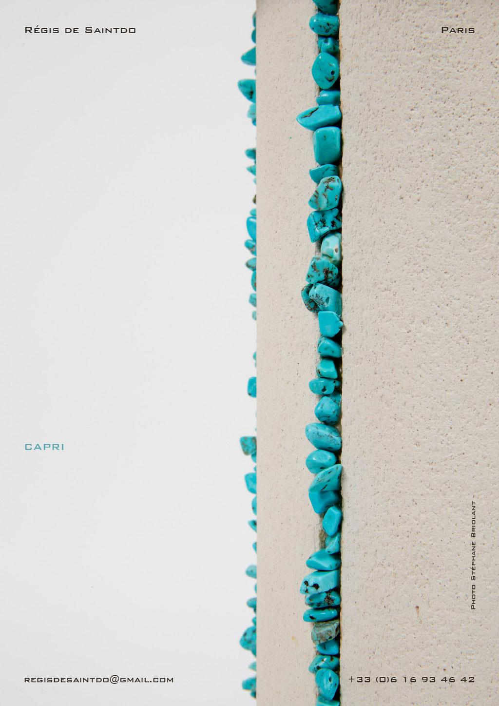 Lampe-Capri-céramique-blanche-brute-turquoise-faite-main-unique-détail