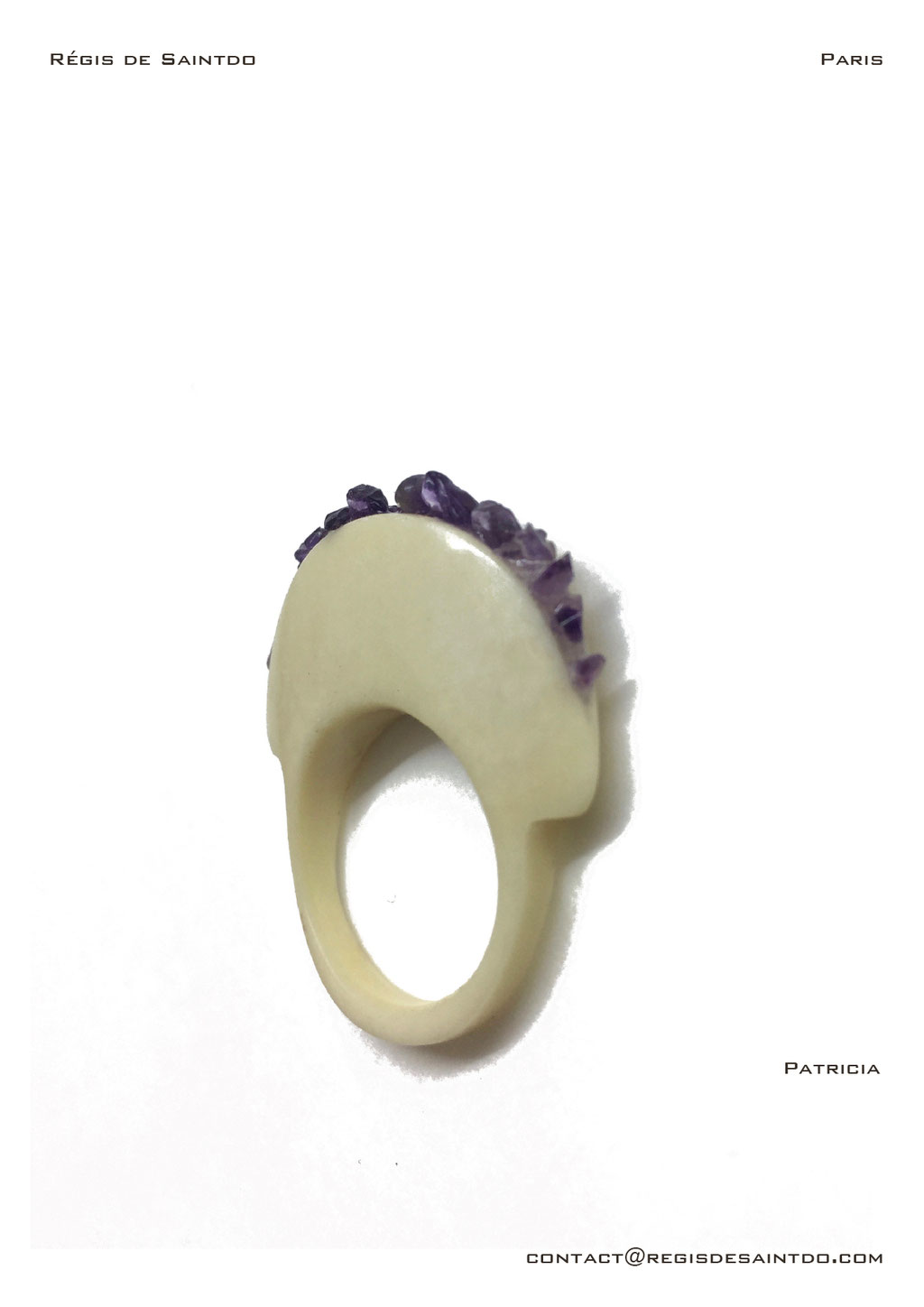 ©Régis de Saintdo-ring-bone-amethyst-hand made