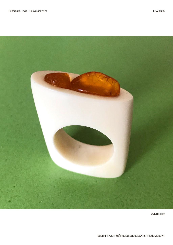 ©Régis de Saintdo-ring-bone-Amber-hand made