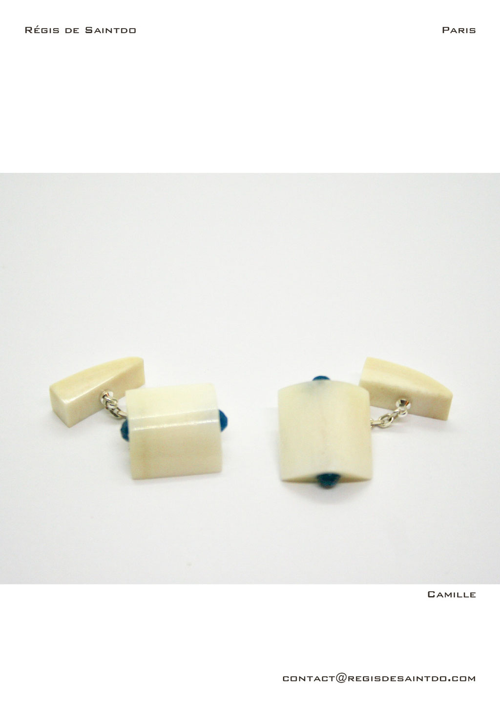 ©Régis de Saintdo-cufflinks-bone-agathe-hand made