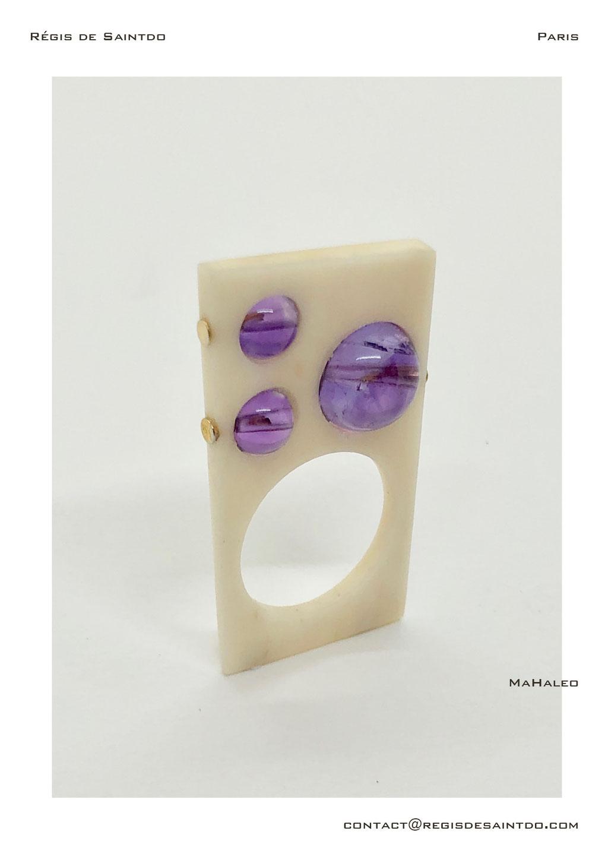 ©Régis de Saintdo-ring-bone-amethysts-hand made