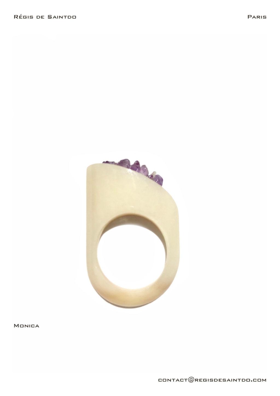 ©Régis de Saintdo-ring-bone-amethyst-hand made