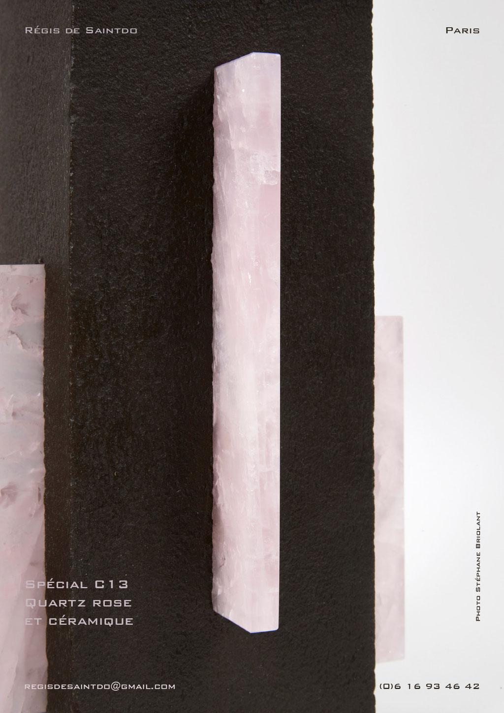 Lampe-C13-céramique-brune-brute-quartz-rose-faite-main-unique-détail