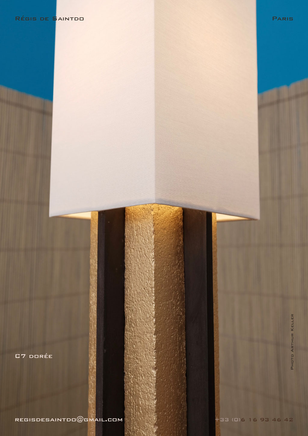 Lamp-C7-gilded-rough-brown-polished-handmade-unique