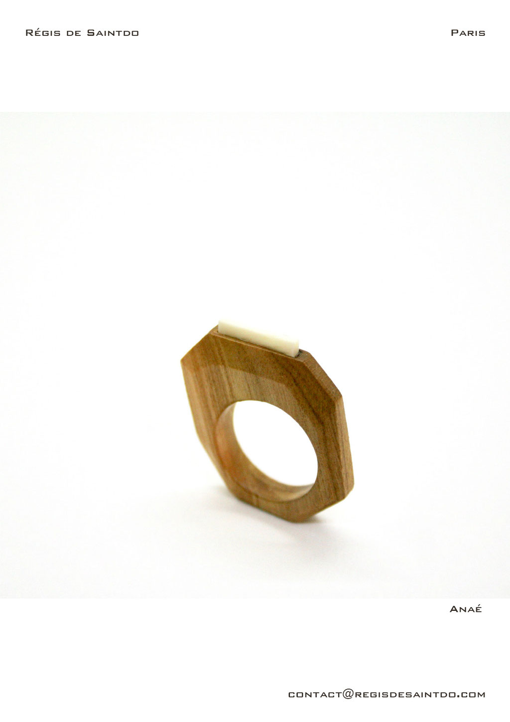 ©Régis de Saintdo-ring-cherry tree-bone-hand made