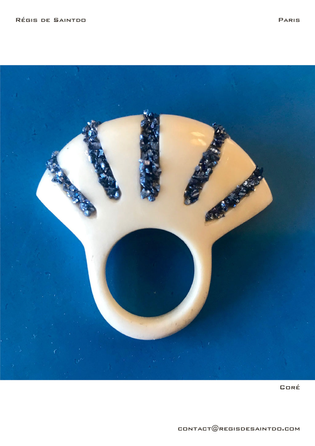 ©Régis de Saintdo-ring-bone-tinted glass-hand made