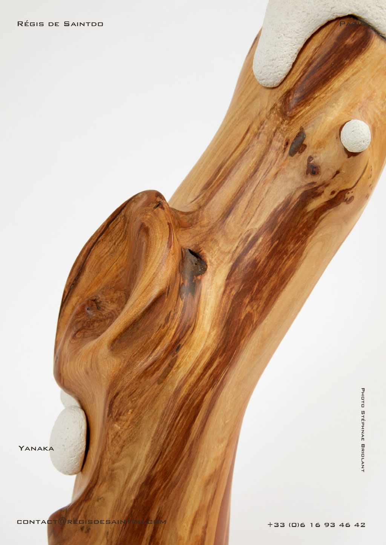Lamp Yanaka cherish tree & ceramic, hand made-one off