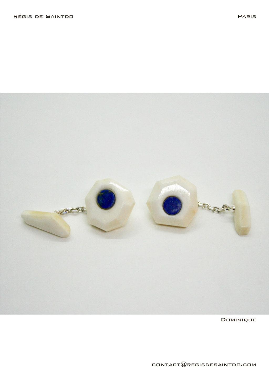 ©Régis de Saintdo-boutons de manchette-os-lapis lazuli--fait main
