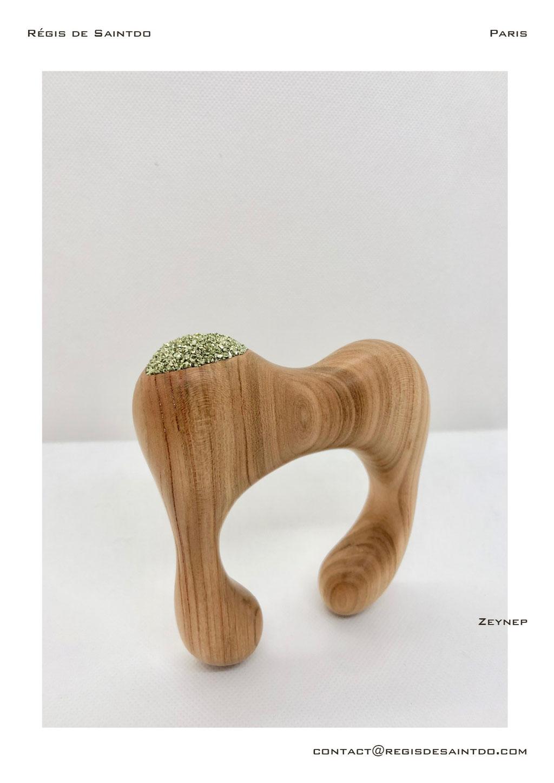 ©Régis de Saintdo-bracelet-cherry wood- tinted glass-hand made