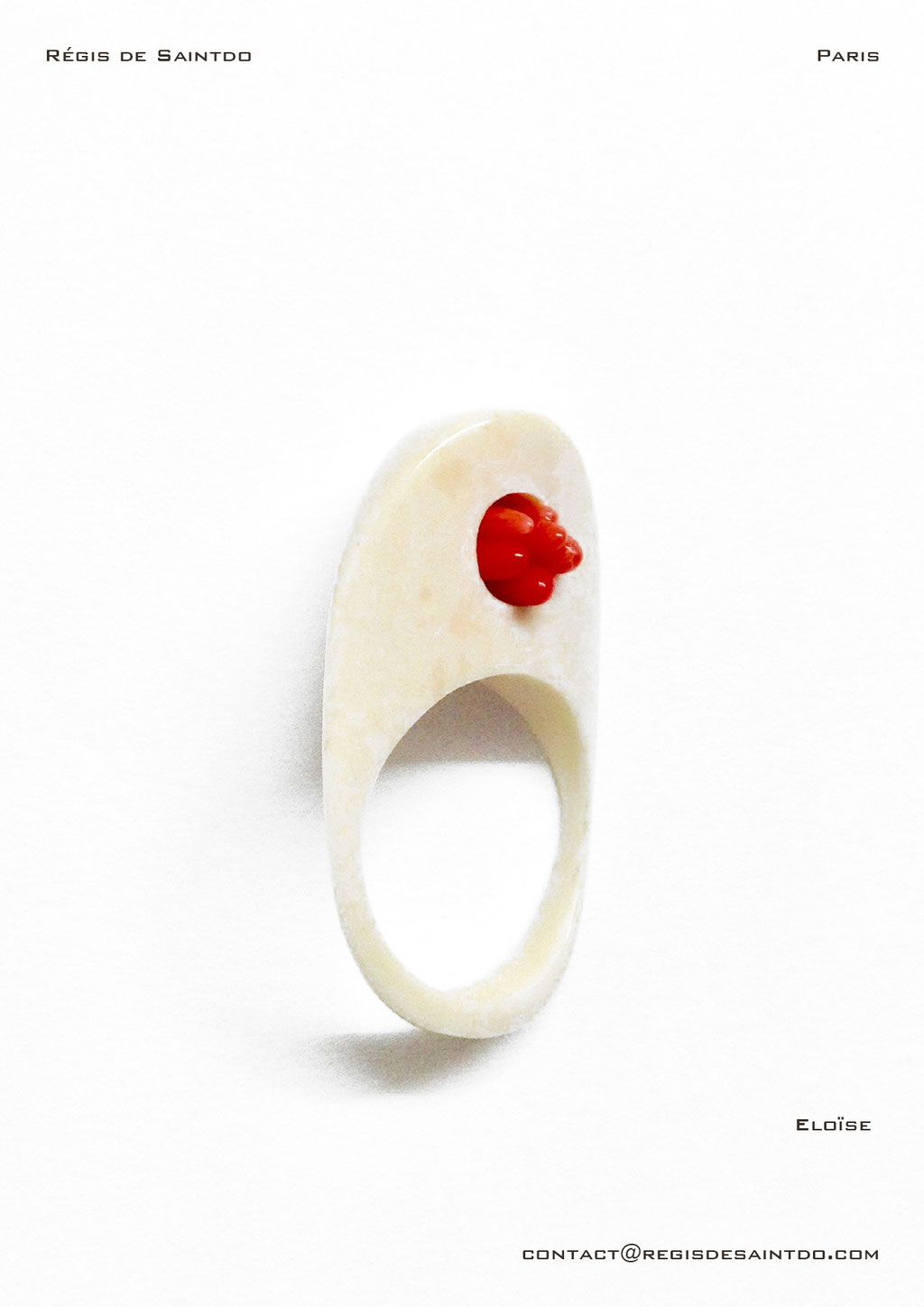 ©Régis de Saintdo-ring-bone-coral-hand made