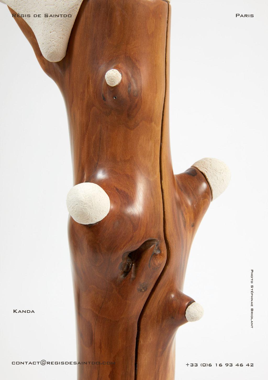 Lamp Kanda cherish tree & ceramic, hand made-one off