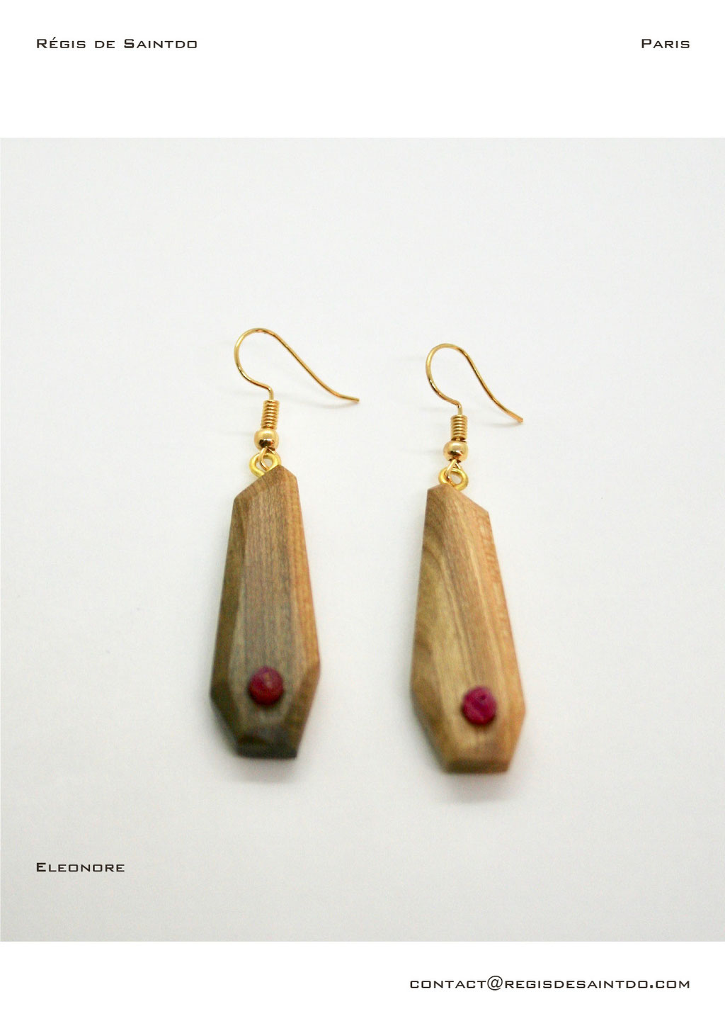 ©Régis de Saintdo-earrings-cherry tree- agathe-hand made