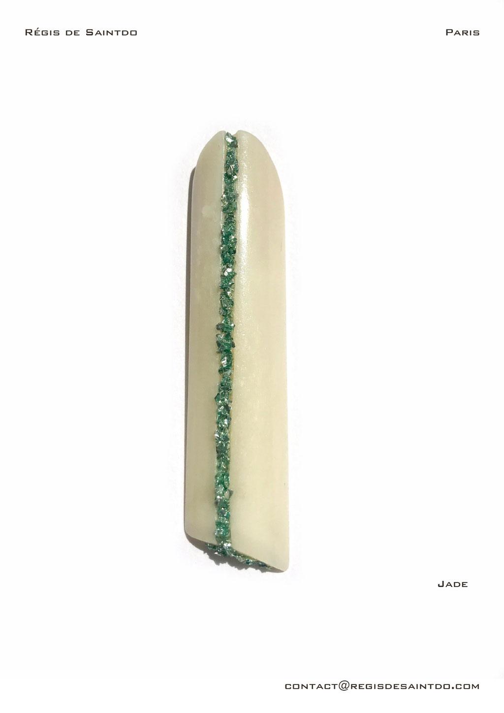 ©Régis de Saintdo-pendant-bone-tinted glass-hand made