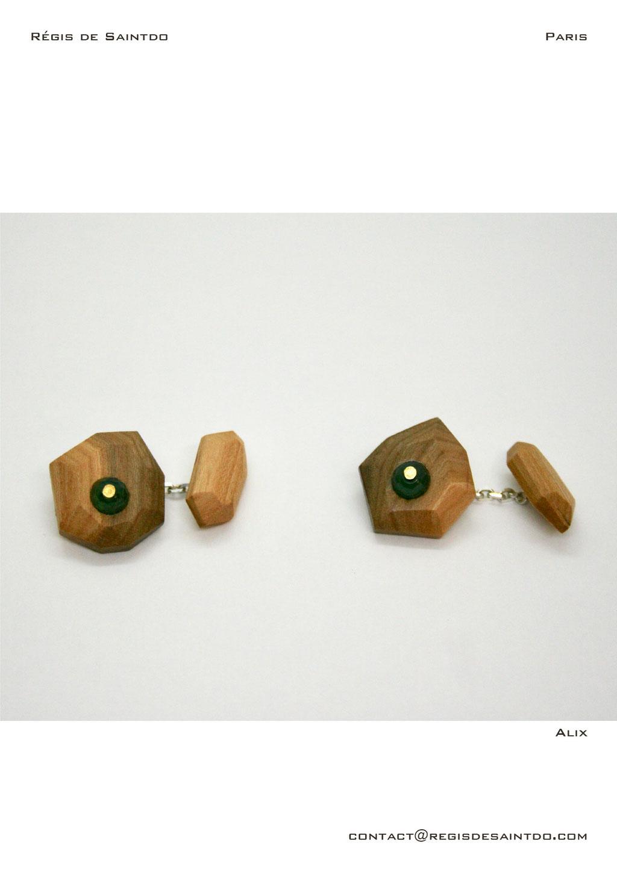 ©Régis de Saintdo-boutons de manchette-bois de cerisier-agathe--fait main